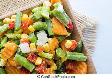 gefrorenes, vegetables.