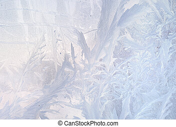 gefrorenes, winter, muster, effect., eis, hintergrund., glas., weihnachten, toning
