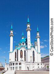 gegen, qol, moschee, kazan, sharif, blauer himmel, russland