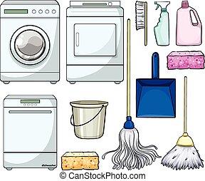 gegenstände, putzen