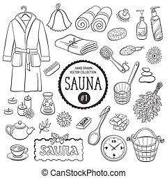 Gegenstände, Sammlung, Sauna