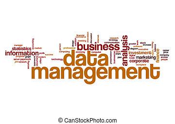 gegevensbeheer, woord, wolk