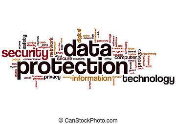 gegevensbescherming, woord, wolk