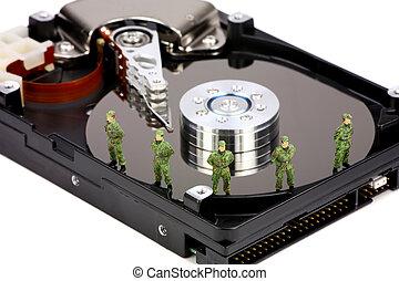 gegevensveiligheid, concept, computer