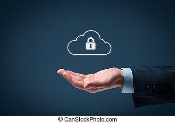 gegevensverwerking, wolk, veiligheid, data