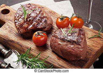 gegrillt, filet, steak