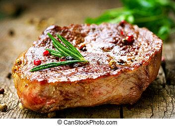 gegrillt, steak