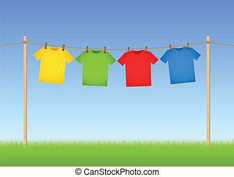 gehangen, t-shirts