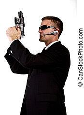 geheimagent, bewaffnet, und, gefährlicher