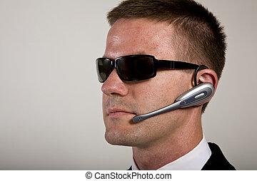 geheimagent, zuhören