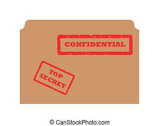 geheimnis, und, vertraulich, briefmarke