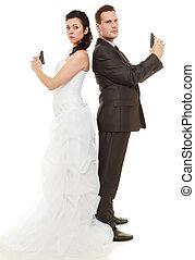 geheiratet, in, argue.