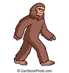 gehen, bigfoot, zeichnung