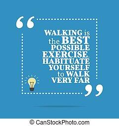 gehen, far., exercise., sehr, motivational, quote., möglich...