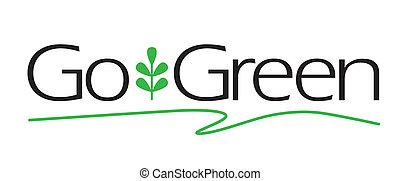 gehen, grün, art