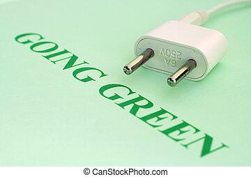 gehen, grün