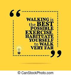 gehen, motivational, exercise., sehr, far., quote., möglich...