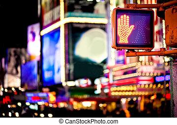 gehen, verkehr, york, neu , zeichen