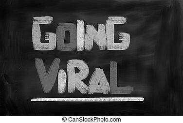 gehen, virus, begriff