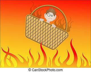 gehen, zu, hölle, in, a, handbasket
