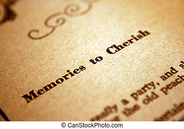 geheugens, om te koesteren