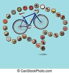 gehirn, fahrrad