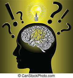 gehirn, problem, lösen, idee