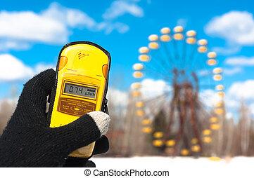 Geiger counter in chernobyl, amusement park