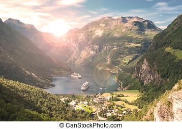 geiranger fjord, norge