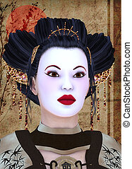 geisha - 3d render