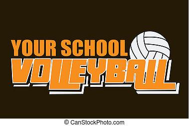 geist, volleyball, tragen