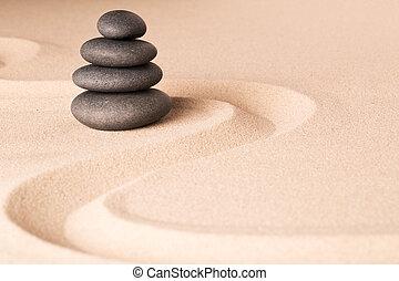 geistig, kleingarten, wohlfühlen, zen, hintergrund, spa