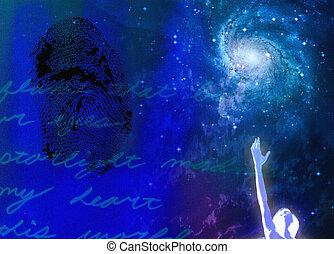 geistig, leidenschaft, abstrakt