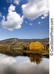 geithus, 風景, 秋