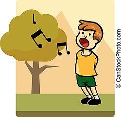 geitjes, activiteit, zingen