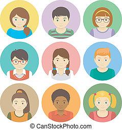 geitjes, avatars