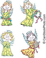 geitjes, engelen