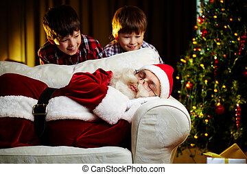 geitjes, kerstman