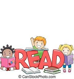 geitjes, lezende