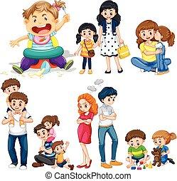 geitjes, ouders, leden, gezin