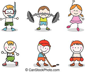 geitjes, sportende