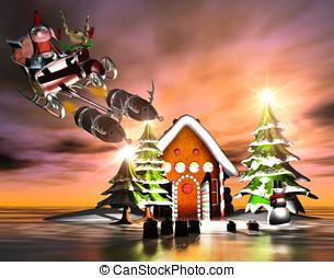 gek, kerstmis