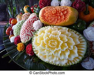 gekerfde, fruit