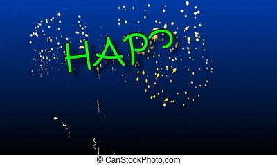 gekke , animatie, spelling, gelukkige verjaardag