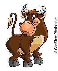 gekke , buffel, spotprent