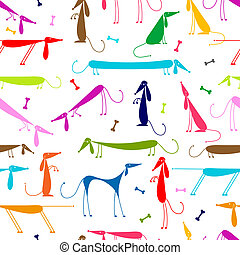 gekke , honden, seamless, ontwerp, achtergrond, jouw