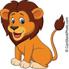gekke , leeuw, spotprent