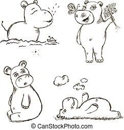 gekke , nijlpaard