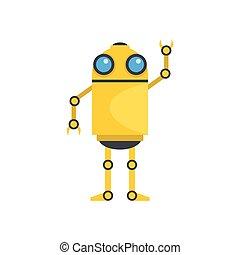 gekke , robot, vector, illustratie