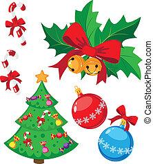 gekke , set, kerstmis